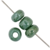1/0 Rocaille 6.6mm Opaque green Lustered